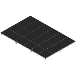 QuickLock Staging 16x24 Indoor/Outdoor Stage System 16x24, 24x16, portable stage platform, portable staging platform, stage deck, stage panel, quicklock, quicklock staging
