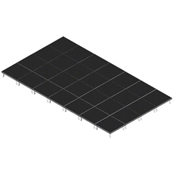QuickLock Staging 16x28 Indoor/Outdoor Stage System 16x28, 28x16, portable stage platform, portable staging platform, stage deck, stage panel, quicklock, quicklock staging