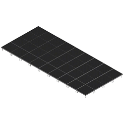 QuickLock Staging 16x36 Indoor/Outdoor Stage System 16x36, 36x16, portable stage platform, portable staging platform, stage deck, stage panel, quicklock, quicklock staging