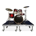 QuickLock Staging 6'x6' Mobile Drum Riser, Industrial Finish