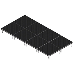 QuickLock Staging 8x16 Indoor/Outdoor Stage System 8x16, 16x8, portable stage platform, portable staging platform, stage deck, stage panel, quicklock, quicklock staging