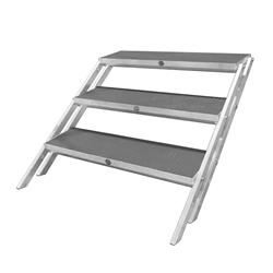 "All-Terrain 3-Step Stair Assembly for 24""-32"" Stages, Industrial Finish steps, stairs"