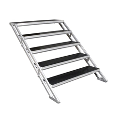 "All-Terrain 5-Step Stair Assembly for 24""-48"" Stages, Industrial Finish steps, stairs"
