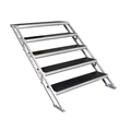 "All-Terrain 5-Step Stair Assembly for 24""-48"" Stages, Industrial Finish"