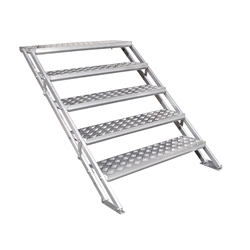 "All-Terrain 5-Step Stair Assembly for 24""-48"" Stages, Weatherproof Aluminum steps, stairs"