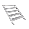 "All-Terrain 5-Step Stair Assembly for 24""-48"" Stages, Weatherproof Aluminum"