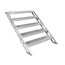 "All-Terrain 5-Step Stair Assembly for 24""-48"" Stages, Industrial Finish - AT4ST5"