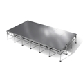 "All-Terrain 12'x24' Outdoor Stage System, 24""-48"" High, Weatherproof Aluminum"