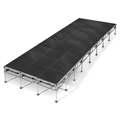 "All-Terrain 12'x32' Outdoor Stage System, 24""-48"" High, Industrial Finish"