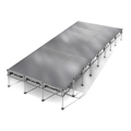"All-Terrain 12'x32' Outdoor Stage System, 24""-48"" High, Weatherproof Aluminum"