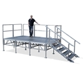 TotalPackage™ 8'x12' Outdoor Portable Stage Kit, Industrial Finish