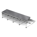 "All-Terrain 4'x16' Outdoor Stage System, 24""-48"" High, Weatherproof Aluminum"