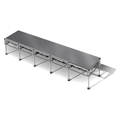 "All-Terrain 4'x20' Outdoor Stage System, 24""-48"" High, Weatherproof Aluminum"