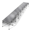"All-Terrain 4'x32' Outdoor Stage System, 24""-48"" High, Weatherproof Aluminum"