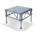 "All-Terrain 4'x4' Outdoor Stage System, 24""-48"" High, Weatherproof Aluminum"