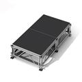 "All-Terrain 4'x8' Outdoor Stage System, 24""-48"" High, Industrial Finish"