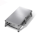 "All-Terrain 4'x8' Outdoor Stage System, 24""-48"" High, Weatherproof Aluminum"