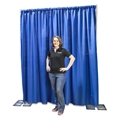 Ameristage FlexDrape 6'-10' Adjustable Backdrop/Curtain Wall Kit