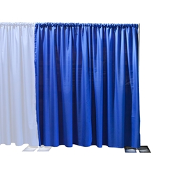 Ameristage FlexDrape 6-10 Adjustable Back Drop Extension Kit pipe and drape, curtain wall, back drop, backdrop, background, stanchions, pipes and drapes