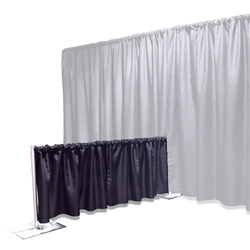 Ameristage FlexDrape 6-10 Adjustable Back Drop Half-Wall Kit pipe and drape, curtain wall, back drop, backdrop, half wall