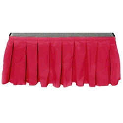 "Ameristage Box-Pleat Stage Skirt, 4x30"" Fuchsia (Overstock) portable stage skirting, velcro, hook and loop, 4x30, 4 x 30, 30 inch stage skirt, clearance, sale, fuchsia, overstock"