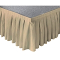 "Ameristage Box-Pleat Stage Skirt, 16'x24"" Khaki (Overstock)"