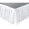 "Ameristage Box-Pleat Stage Skirt, 8'x25"" White (Overstock)"