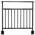 Biljax ST8100 4'W Vertical Rail Guard Rail, Square Corner, Open Top