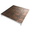Biljax ST8100 4'x4' Stage Deck Replacement Top, Pecan Faux Hardwood Stained Plywood