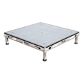Biljax AS2100 4'x4' Portable Stage Kit, Gray Stained Plywood (1 - 4'x4' Deck)