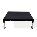 Biljax ST8100 4'x4' Portable Stage Unit, Black Poly Ripple Plywood