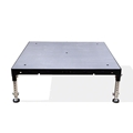 Biljax ST8100 4'x4' Portable Stage Unit, Gray Stained Plywood