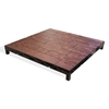 Biljax ST8100 4'x4' Square Steel Frame Stage Deck Platform, Pecan Faux Hardwood Stained Plywood