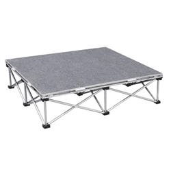 IntelliStage Lightweight 3x3 Portable Stage Unit portable staging, lightweight, stage unit, 3x3, 3 x 3, stage package