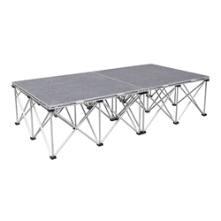 IntelliStage Lightweight 3x6 Portable Stage System 3x6, 6x3, 3 x 6, portable staging, portable stage, stage kit, lightweight, stage unit, intellistage
