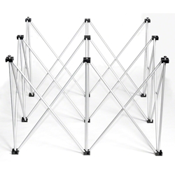 IntelliStage Lightweight 4x4 Square Stage Riser portable stage riser