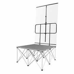 IntelliStage Backdrop Frame for 4 Wide Guard Rail back drop, curtain, guardrail