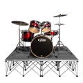 IntelliStage Lightweight 6'x6' Drum Riser System, Carpet