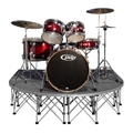 IntelliStage Lightweight 6'x6' Rounded Front Drum Riser