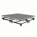IntelliStage Lightweight 6'x6' Mobile Drum Riser on Casters, Carpet