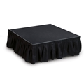 "IntelliStage Black Skirt for 16"" High Stage System (8'x17"")"