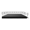 IntelliStage Lightweight 12'x24' Deluxe Stage System with Guardrails, Steps and Skirts