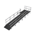 "Universal Straight ADA Wheelchair Ramp with Landing for 16"" High Stages"