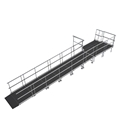 "Universal Straight ADA Wheelchair Ramp with Landing for 24"" High Stages"