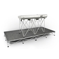 "IntelliStage Lightweight 4'x8' Carpet Keyboard Platform Package (With 30"" High Folding Table)"
