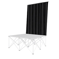 IntelliStage Backdrop Curtain (4 Wide by 8 High) back drop, curtain, drape, guardrail