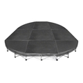 IntelliStage Lightweight 12' Rounded Corner Portable Stage System, (4' Units)