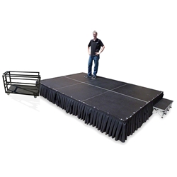 TotalPackage™ Lightweight Portable Stage Kit, 8x12 8x12, 12x8, 8 x 12, 96 square foot stage, ISCART, stage cart, stage package, stage kit, stage bundle