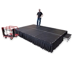TotalPackage™ Lightweight Portable Stage Kit, 8'x12' 8x12, 12x8, 8 x 12, 96 square foot stage, stagekart, stage cart, stage package, stage kit, stage bundle