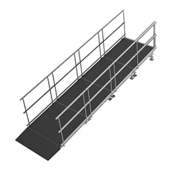 "Universal Straight ADA Wheelchair Ramp for 16"" High Stages universal ramp, universal wheelchair ramp, universal ada ramp, ada ramp, 16 inch stage ramp, 16 in wheelchair ramp, portable stage ramp"